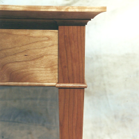 Cherry End Table Details