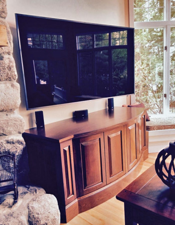 Curved Entertainment Center