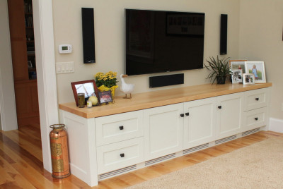 A Custom Built Solid Wood Entertainment Center