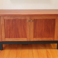 Mahogany Media Cabinetry