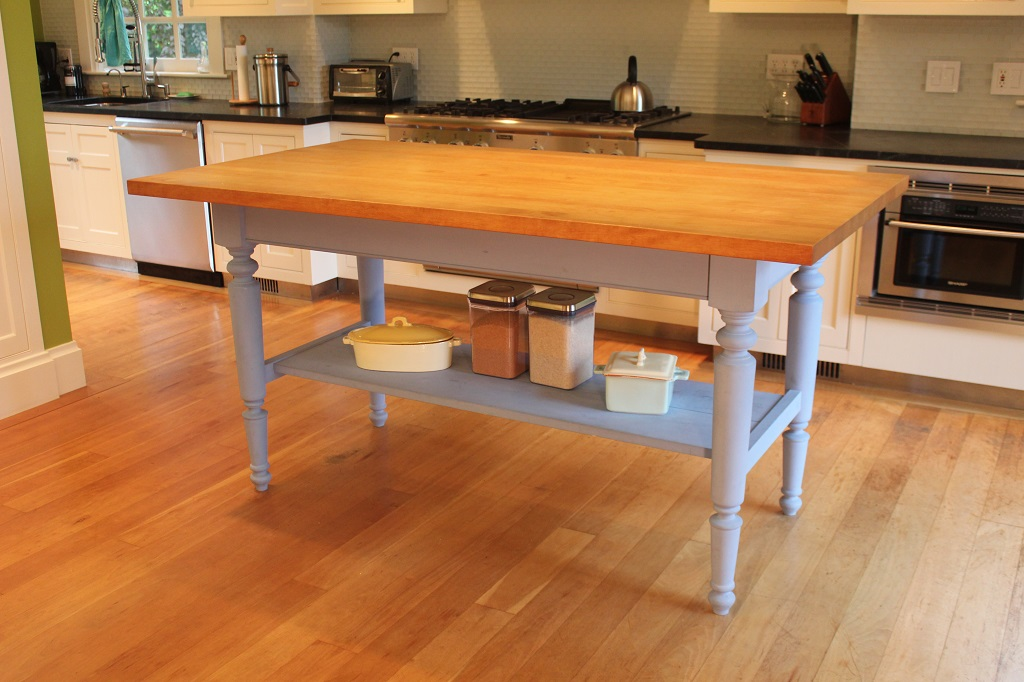 A Traditional Farmhouse Table Custom Built by A Wilson Designs