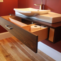 Solid Wood Floating Bathroom Vanity