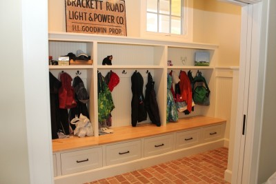 Solid Wood Mudroom Cabinetry