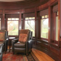 Home Theater with Custom Woodworking in Rye NH