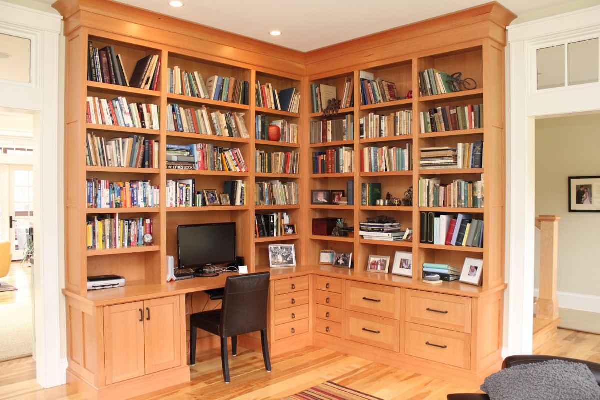 Custom Built Solid Wood Home Office Furniture