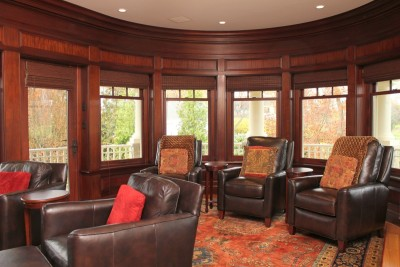 Custom Home Theater Family Room in NH