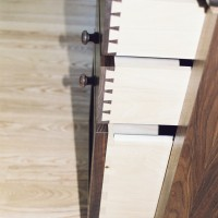 Hand cut dovetails on these custom drawers