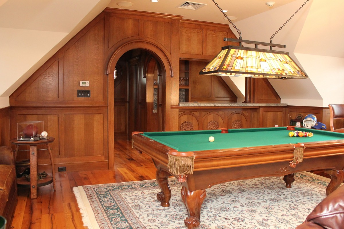 Man Cave with Custom Woodworking