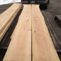 The sawn birch slabs for the table top.