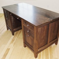 We offer complete custom furniture design like this walnut desk